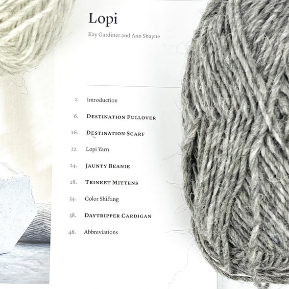 Destination Scarf Knitting Bundle | 5 Balls of Earthy Lettlopi Yarn and Pattern | MDK Field Guide No. 17 LOPI by Modern Daily Knitting - Copia Cove Icelandic Sheep & Wool