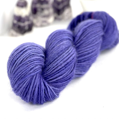 Icelandic Lamb Wool Yarn Sport Weight 100g Skein Dyed Amethyst Purple - 190 yards - soft lamb wool - Copia Cove Icelandic Sheep & Wool