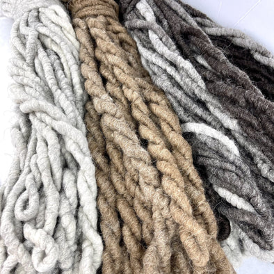 Icelandic Wool Super Chunky Core Spun Yarn for Rug Weaving or Craft Art Yarn - Copia Cove Icelandic Sheep & Wool