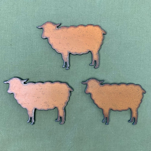 copia cove icelandic sheep Rustic usa Metal steel Sheep Magnet