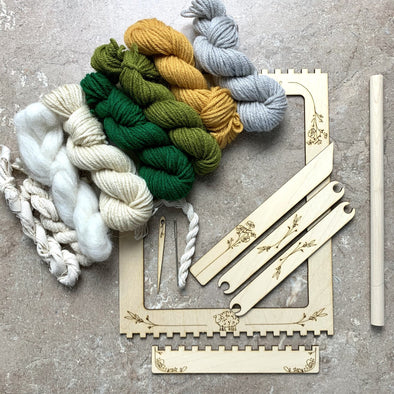 Learn to Weave Loom Craft Kit with Fiber and Yarn - Copia Cove Icelandic Sheep & Wool