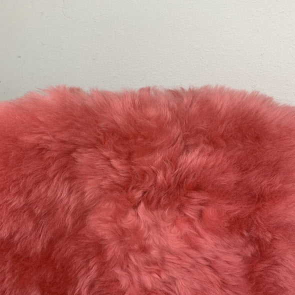 Premium Icelandic Sheepskin Rug Coral Color Short Wool - Copia Cove Icelandic Sheep & Wool