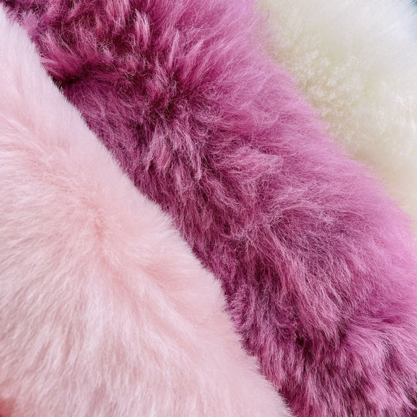 Premium Icelandic Sheepskin Rug Dusty Rose Short Wool - Copia Cove Icelandic Sheep & Wool
