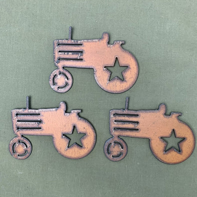 Rustic Metal Tractor Magnet - Copia Cove Icelandic Sheep & Wool