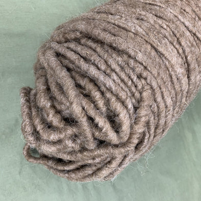 Super Chunky Yarn Core Spun Yarn - Brown - Icelandic Wool Rug or Craft Yarn - Copia Cove Icelandic Sheep & Wool