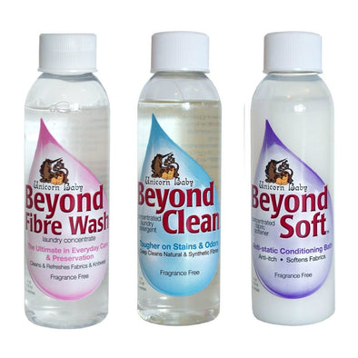 Unicorn Beyond Gift Set - Beyond Clean, Beyond Fibre Wash, Beyond Soft - Wool Scour Wash and Softener - Copia Cove Icelandic Sheep & Wool