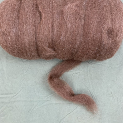 Wool / Alpaca Roving Blend 8oz - Icelandic Wool and Huacaya Alpaca - Natural Colors - Copia Cove Icelandic Sheep & Wool