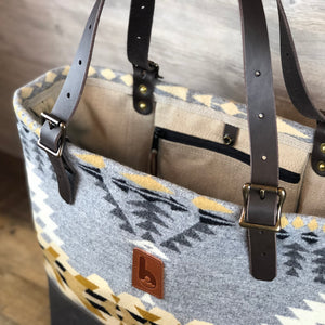 Large Wool Busy Bee Tote