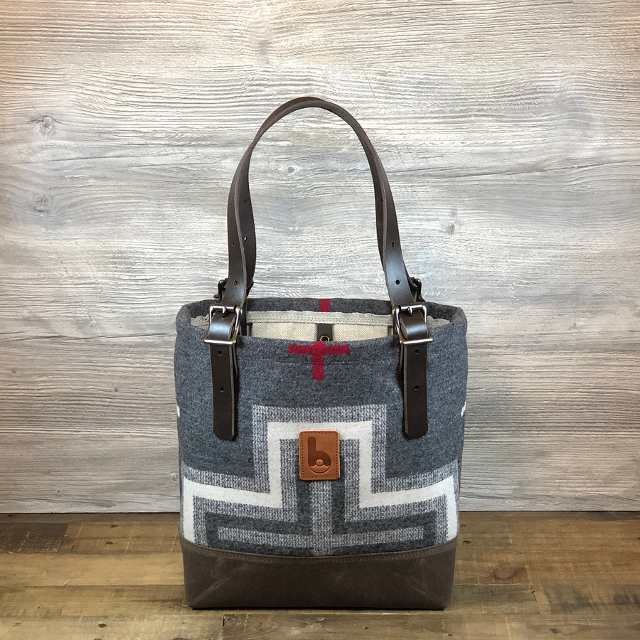 Small Wool Busy Bee Tote