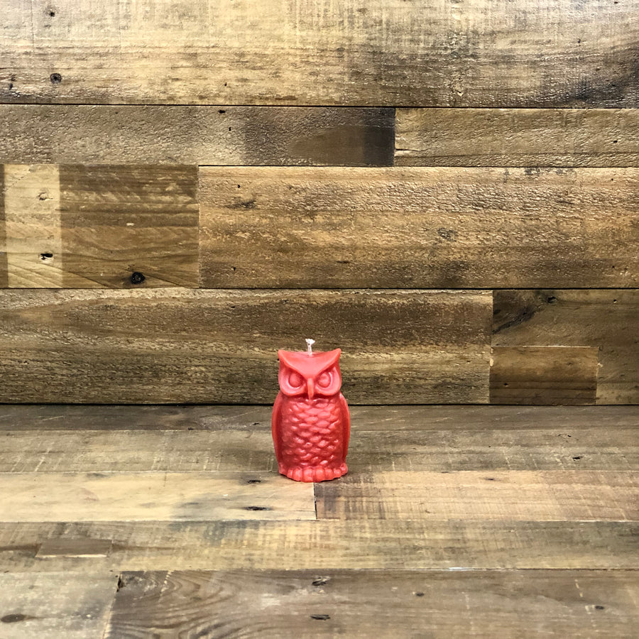 Owl Beeswax Candle