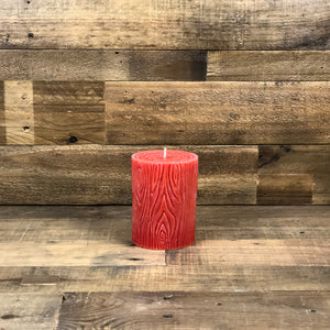 Wood Grain Beeswax Candle