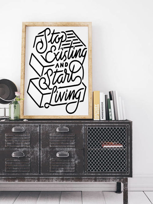 """Start Living"" Motivational Canvas"