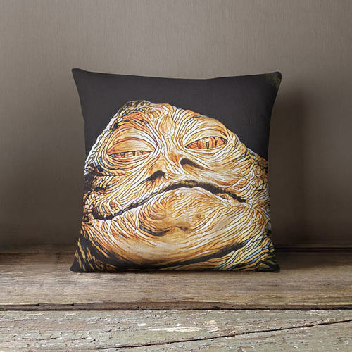 Jabba The Hutt Throw Pillow Cover Star Wars