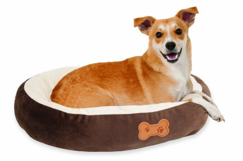 Aspen Pet Oval Cuddler Pet Bed, Chocolate Brown