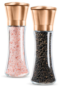Set of 2- Brushed Pepper Mill and Salt Mill