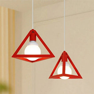 Vintage Industrial Triangle Pendant hanging Lamp
