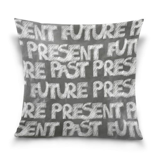 Throw Pillow - Past, Present, Future