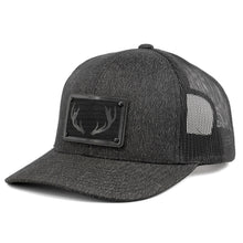 Load image into Gallery viewer, Wooden Patch Buck Deer Rack Hunting Trucker Hat By Union Standard