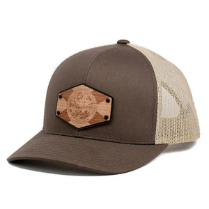 Florida Flag Wooden Patch Trucker Cap By Union Standard Hat Company