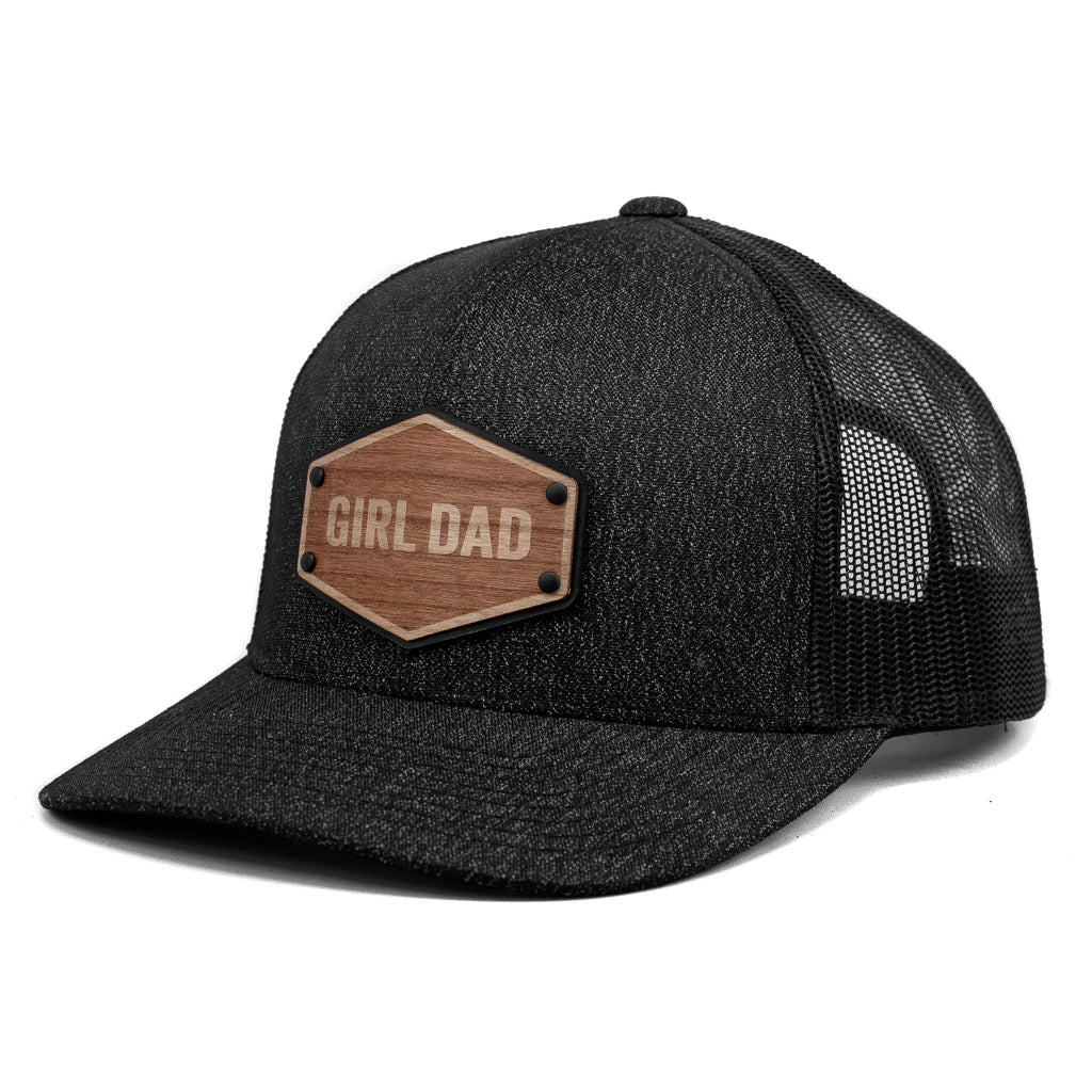 Girl Dad Wooden Patch Leather Patch Trucker By Union Standard