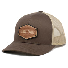 Load image into Gallery viewer, Girl Dad Wooden Patch Leather Patch Trucker By Union Standard