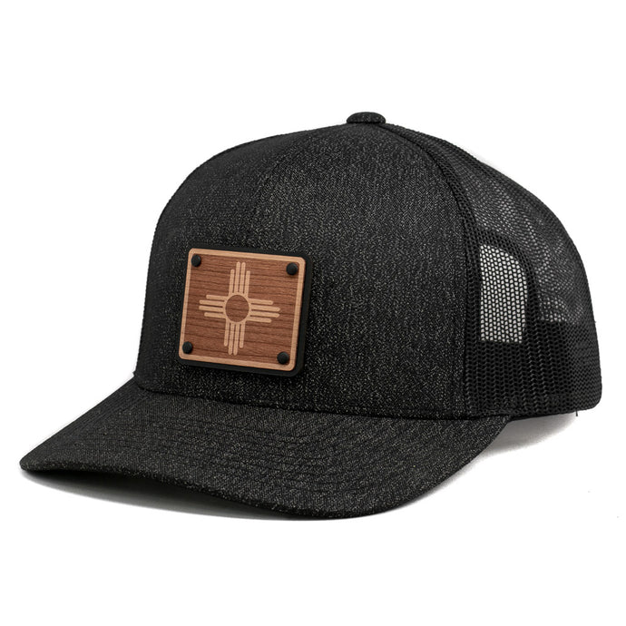 Wooden Patch New Mexico Flag Snapback Hat By Union Standard Cap Company