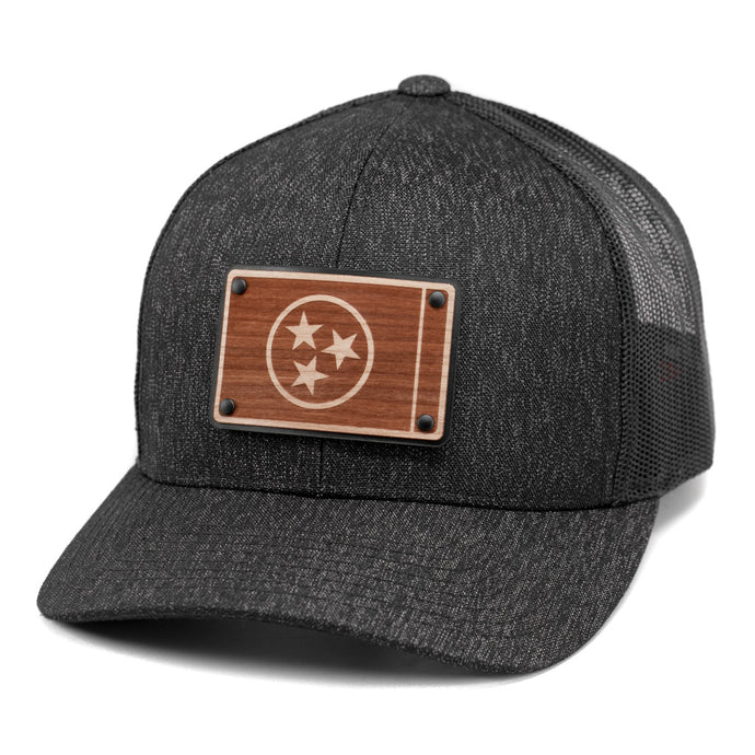 Wooden Tennessee Flag Snapback Trucker Hat By Union Standard