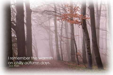 I remember the warmth on chilly autumn days