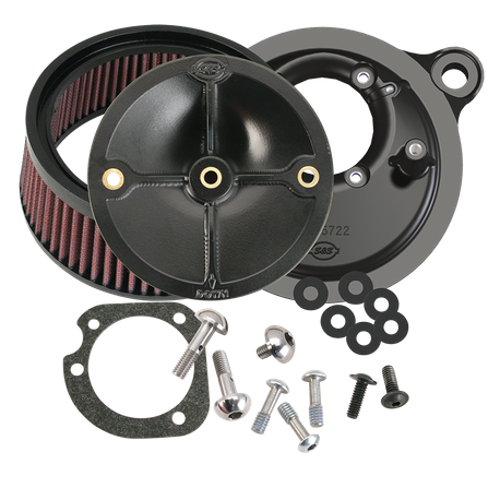 S&S® Stealth Air Cleaner Kit Without Cover For All Fuel Injected 2008-'17 HD® Models Originally Equipped With Throttle by Wire, except CVO® and Tri-Glide®