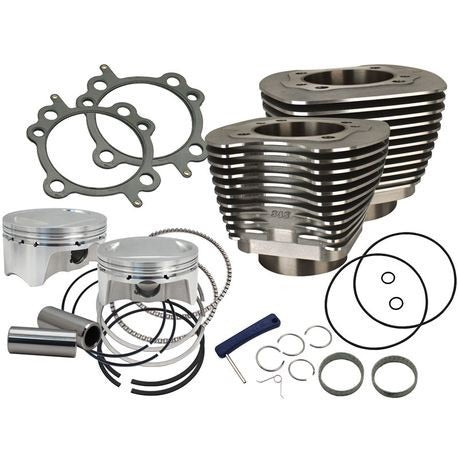 "4"" Sidewinder Big Bore Kit for 2007-'17 HD® Big Twin Models - Wrinkle Black"