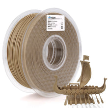 Load image into Gallery viewer, AMOLEN PLA Filament 1.75mm, Wood Color, 3D Printer Filament +/- 0.03 mm, 1KG(2.2LB).