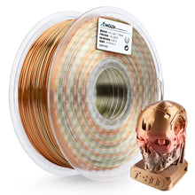 Load image into Gallery viewer, AMOLEN PLA 3D Printer Filament, 1.75mm, Multicolor Silk Metal Rainbow 1 kg
