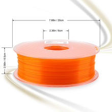 Load image into Gallery viewer, AMOLEN 3D Printer Filament, Fluorescent PLA Filament 1.75mm +/- 0.03 mm, 1KG(2.2LB).