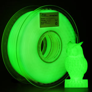 AMOLEN 3D Printer Filament, Glow in the Dark PLA Filament 1.75mm +/- 0.03 mm, 1KG/200G.