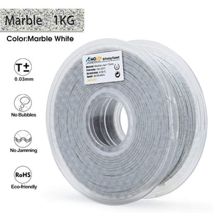 AMOLEN 3D Printer Filament, Marble Color 1.75mm PLA Filament +/- 0.03 mm, 1KG/2.2LB.