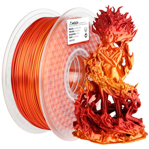 AMOLEN 3D Printer Filament, PLA Filament 1.75mm Silk Shiny Filament Gradient, 1KG/2.2lb