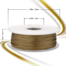 Load image into Gallery viewer, AMOLEN 3D Printer Filament, Frosted Bronze 1.75mm PLA Filament +/- 0.03 mm, 1KG.