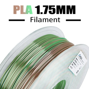 AMOLEN PLA 3D Printer Filament, 1.75mm, Multicolor Silk Metal Rainbow 1 kg