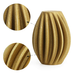 AMOLEN 3D Printer Filament, Frosted Bronze 1.75mm PLA Filament +/- 0.03 mm, 1KG.