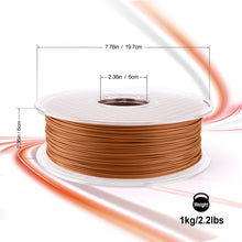 Load image into Gallery viewer, AMOLEN PLA 3D Printer Filament, Red Wood PLA Filament 1.75mm 20% Real Wood,1KG