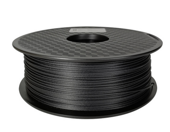 AMOLEN 3D Printer Filament, Black Carbon Filament 1.75mm +/- 0.03 mm, 2.2LBS(1KG).