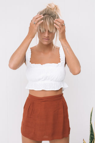 Tunic Tee Sheer White