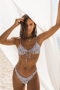 Faith Bottoms White Leopard