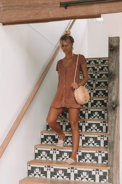 Gigi Dress Rust