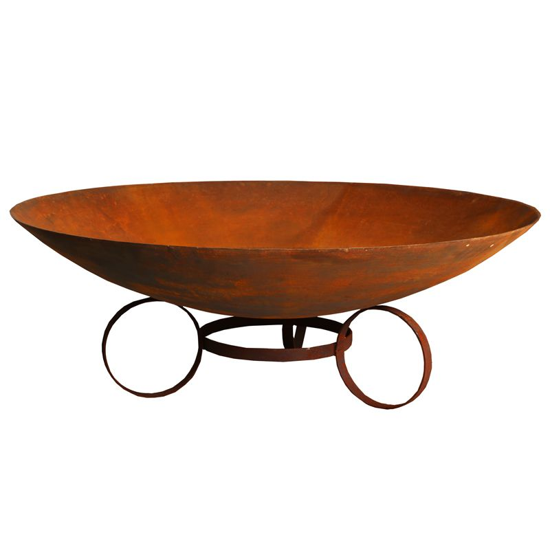 100cm Cast Iron Firepit Bowl with Trivet base - Outdoor Living Essentials
