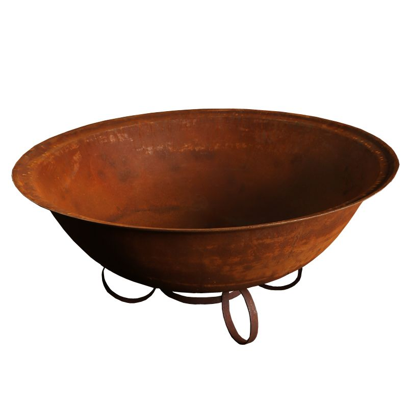 120cm Cast Iron Deep Bowl with Trivet base - Outdoor Living Essentials