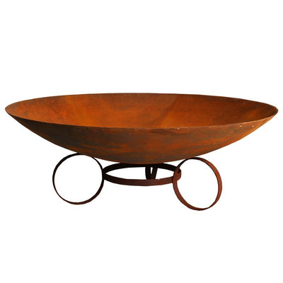 75cm Cast Iron Firepit Bowl with Trivet Base - Outdoor Living Essentials