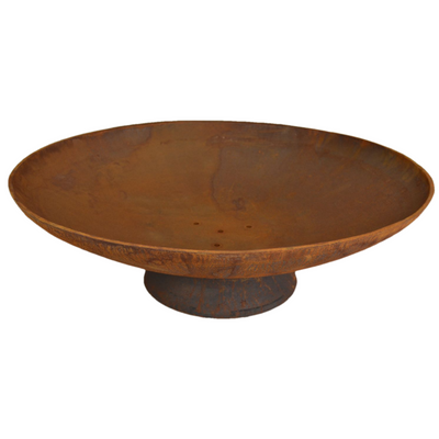 78cm Cast Iron Fire Pit Rust - Outdoor Living Essentials