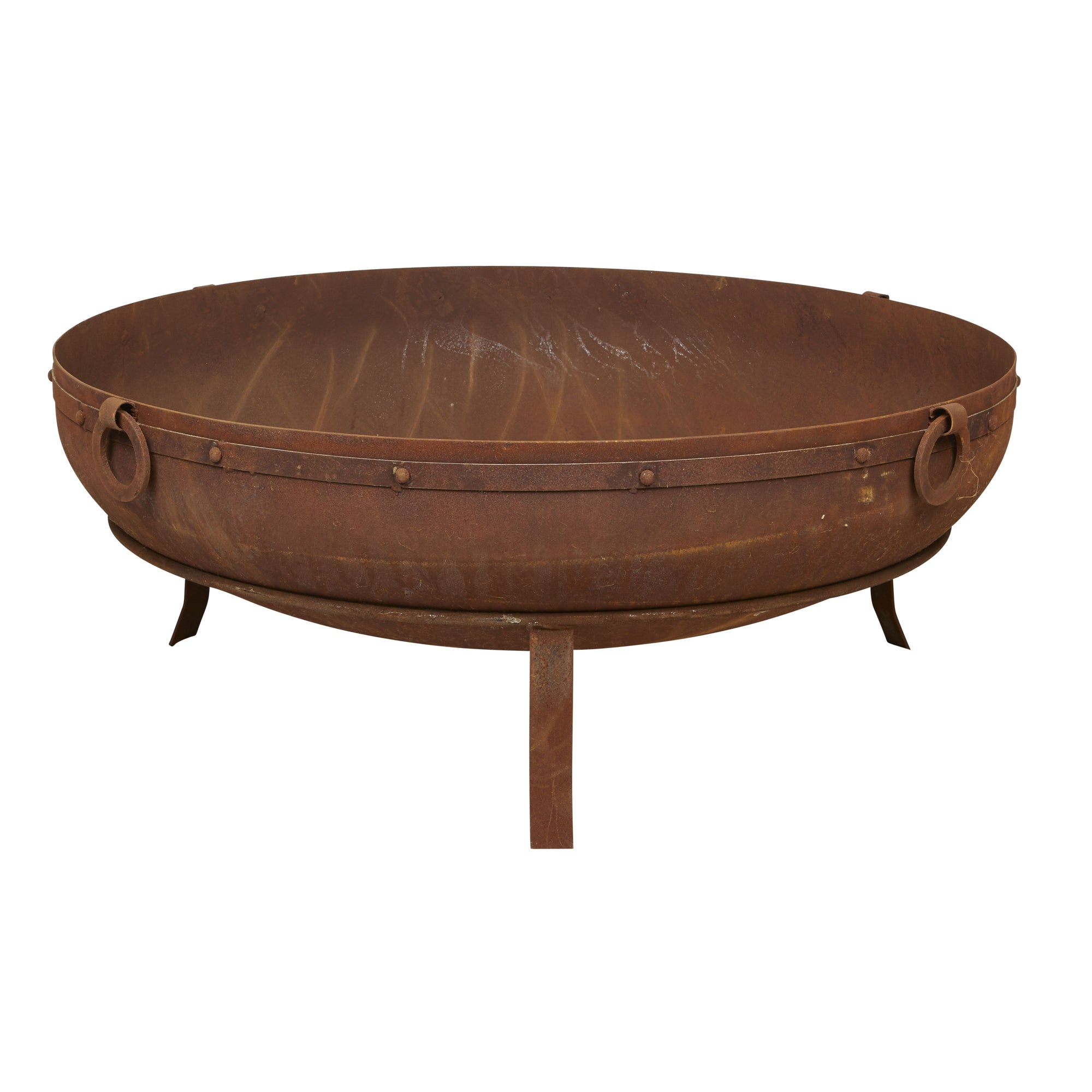 90cm Indian Kadai Replica Cauldron with Base - Outdoor Living Essentials
