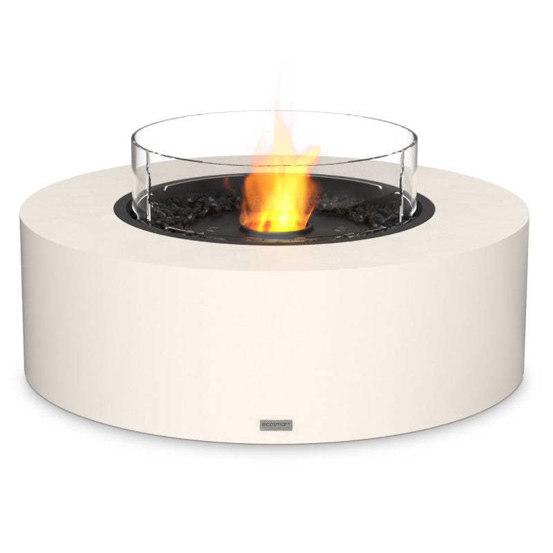 Ark 40 ethanol fire pit table bone black